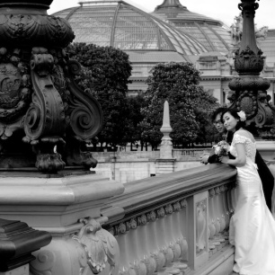 Paris bride & groom, Grand Palais