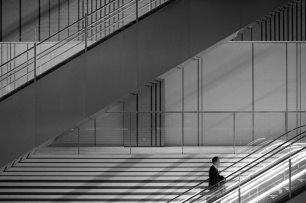 Escalator - monochrome 1